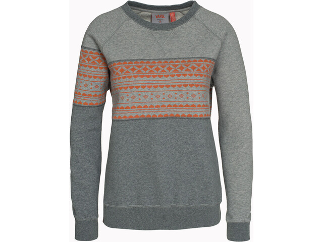 Varg W's Fjällbacka Crewneck Jersey Grey with Orange